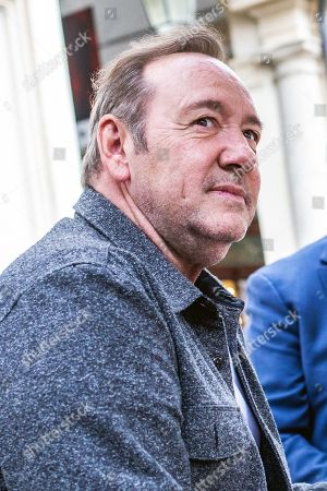 Stock Image of Kevin Spacey in a cafe in downtown Turin