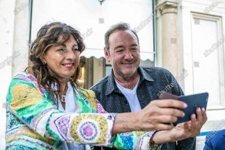 Editorial photo of Kevin Spacey out and about, Turin, Italy - 01 Jun 2021