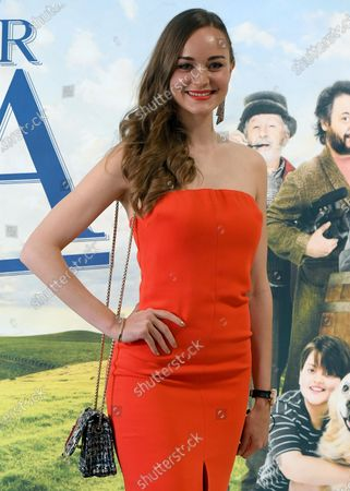 Laura Bilgeri poses during a photocall for the movie 'Tutti per Uma' in Rome, Italy, 01 June 2021.The movie opens in Italian theaters on 02 June.