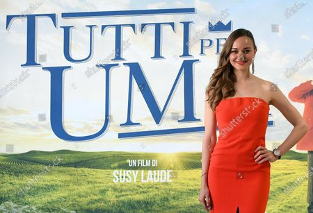 Stock Photo of Laura Bilgeri poses during a photocall for the movie 'Tutti per Uma' in Rome, Italy, 01 June 2021.The movie opens in Italian theaters on 02 June.