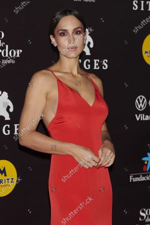 Megan Montaner attends the '30 Monedas' Sitges film festival Red Carpet at Gran Melia Hotel in Sitges, Spain, on October 11, 2020.