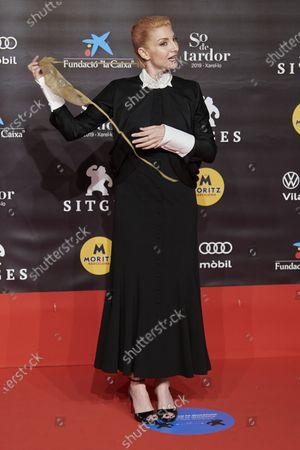 Najwa Nimri attends the Sitges Fantastic Film Festival at Gran Melia Hotel in Sitges, Spain, on October 9, 2020.