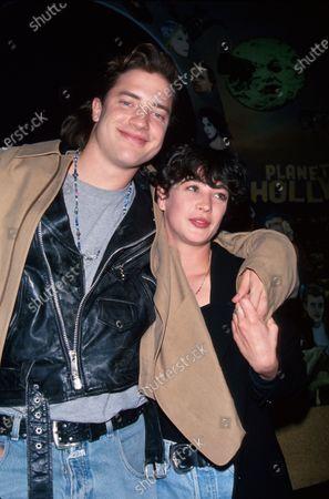 Actors Brendan Fraser and Moira Kelly.