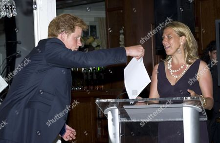 Prince Harry with Sentebale CEO Kedge Martin