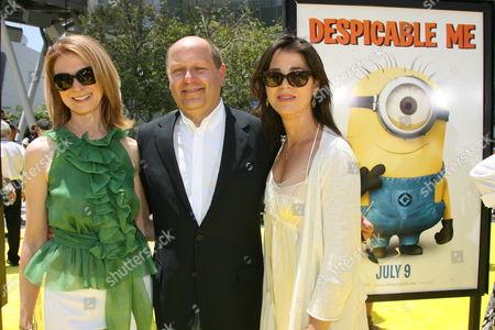 Dawn Hudson and Rebecca Yeldham with Chris Meledandri