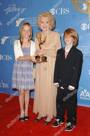Agnes Nixon with grandchildren Maggie and Jack
