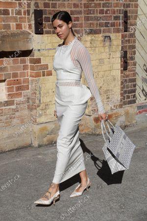 Editorial image of Afterpay Australian Fashion Week Street style, Sydney, Australia - 02 Jun 2021