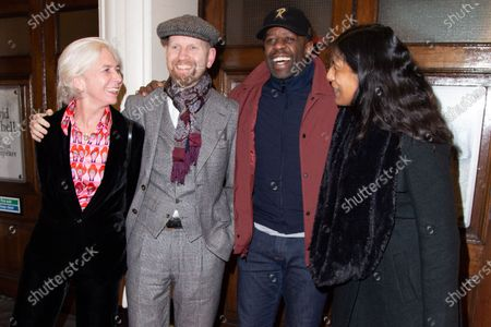 Adrian Lester (C) and Lolita Chakrabarti (R) attend Press Night of The Upstart Crow at the GIELGUD THEATRE, SHAFTESBURY AVE 17 February 2020 in London, England.
