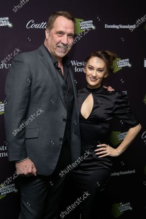 David Seaman and Frankie Poultney attend London Football Awards at The Roundhouse on March 05, 2020 in London, UK.