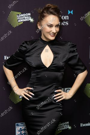 Frankie Poultney attends London Football Awards at The Roundhouse on March 05, 2020 in London, UK.