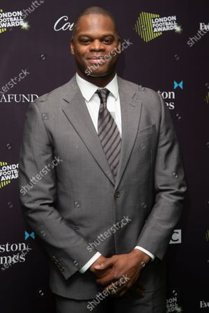 Marlon Harewood attends London Football Awards at The Roundhouse on March 05, 2020 in London, UK.