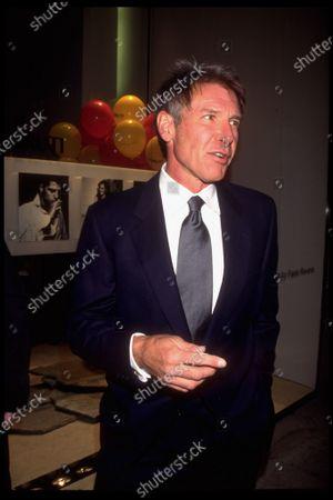 Actor Harrison Ford attending opening of designer Nino Cerruti boutique.