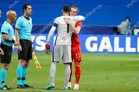 Captains Gareth Bale of Wales and Hugo Lloris of France