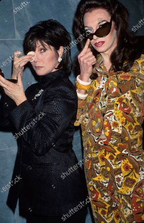 (L-R) Actress Michele Lee and female impersonator John Epperson a/k/a Lypsinka at screening of Lee's television film Scandalous Me.