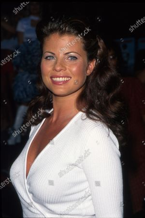 Actress Yasmine Bleeth at film premiere of her BASEketball.