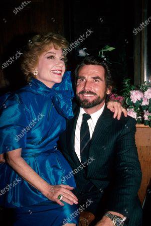 Actors Anne Baxter and James Brolin.