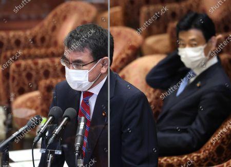 Editorial photo of Chief Cabinet Secretary Katsunobu Kato attends Lower House's cabinet committee session, Tokyo, Japan - 02 Jun 2021
