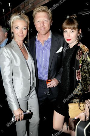 Tamara Beckwith, Boris Becker and Anoushka Beckwith