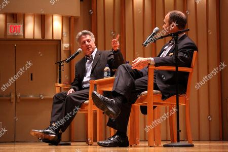 Dustin Hoffman and Scott Turow