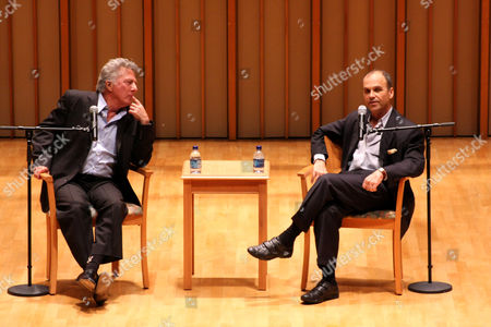 Stock Image of Dustin Hoffman and Scott Turow