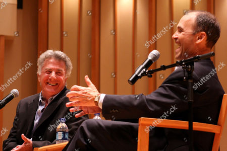 Stock Picture of Dustin Hoffman and Scott Turow