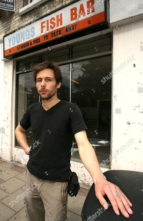 Editorial photo of Pablo Wendel and his fish and chip shop installation, London, Britain - 21 Jun 2010