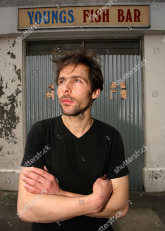 Editorial image of Pablo Wendel and his fish and chip shop installation, London, Britain - 21 Jun 2010
