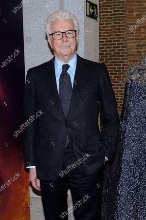 British writer Ken Follett attends the reading of his novel 'The Pillars of the Earth' in Madrid, Spain, 18 November 2019.