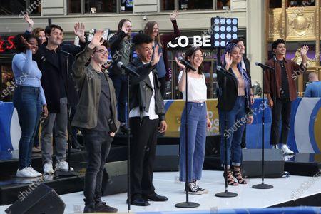 Editorial image of 'Dear Evan Hansen' cast perform on Good Morning America, New York, USA - 01 Jun 2021