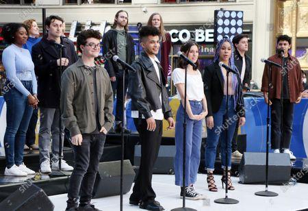 Editorial photo of 'Dear Evan Hansen' cast perform on Good Morning America, New York, USA - 01 Jun 2021