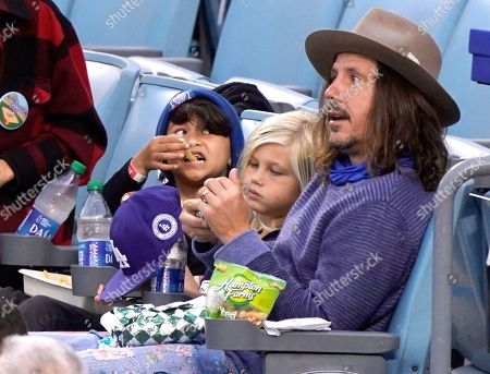 Stock Photo of Cisco Adler at the Los Angeles Dodgers Vs The St Louis Cardinals Baseball Game at Dodger Stadium