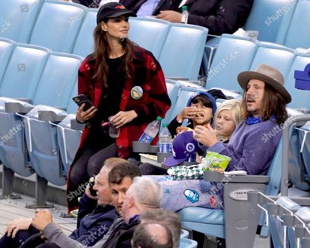 Stock Picture of Cisco Adler at the Los Angeles Dodgers Vs The St Louis Cardinals Baseball Game at Dodger Stadium