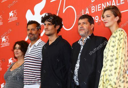 Noemie Lvovsky, Laurent Lafitte, Louis Garrel, Pierre Schoeller and Celine Sallette