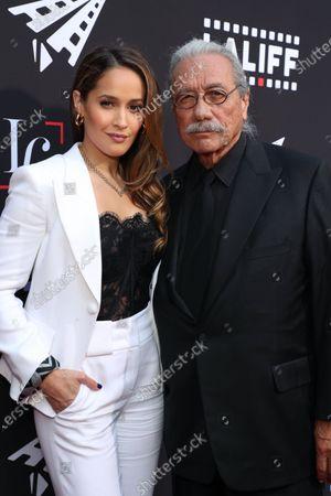 Jaina Lee Ortiz and Edward James Olmos