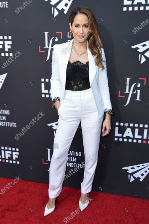 """Stock Picture of Jaina Lee Ortiz arrives at the world premiere of """"7th & Union"""" during the Los Angeles Latino International Film Festival at the TCL Chinese Theatre on"""