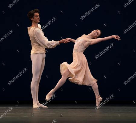 Editorial photo of Tchaikovsky Pas de Deux.  Ballet performed by the Royal ballet at the Royal Opera House, London, UK - 02 Jun 2021