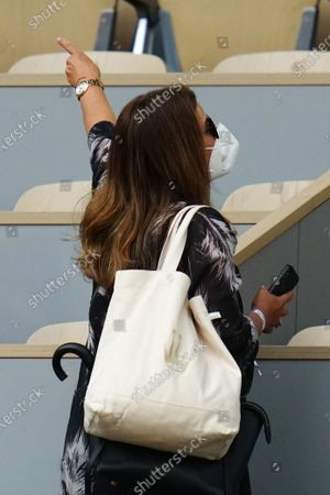 Mirka Federer during the second round