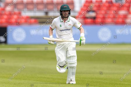 Stock Photo of Sam Evans batting during Day 1 of the LV= Insurance County Championship match between Leicestershire County Cricket Club and Gloucestershire County Cricket Club at the Uptonsteel County Ground, Leicester