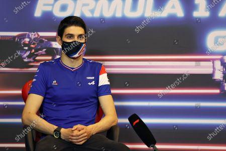 Esteban Ocon, Alpine at press conference during the 2021 Formula One Azerbaijan Grand Prix