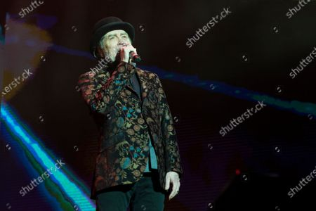 Spanish singer and songwriter Joaquin Sabina performs on stage at Wizink Center February 11, 2020 in Madrid, Spain.