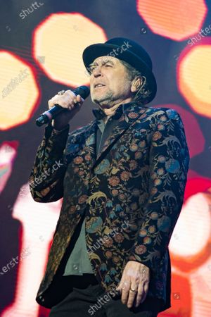 Stock Picture of Spanish singer and songwriter Joaquin Sabina performs on stage at Wizink Center February 11, 2020 in Madrid, Spain.