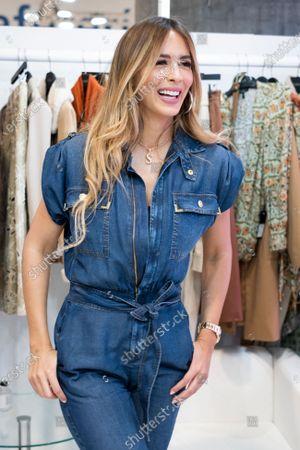 Stock Photo of Venezuelan model Shannon De Lima presents studio F during MOMAD fair 2020 at Ifema on February 07, 2020 in Madrid, Spain.