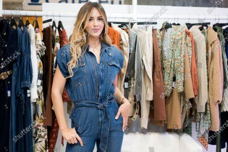 Venezuelan model Shannon De Lima presents studio F during MOMAD fair 2020 at Ifema on February 07, 2020 in Madrid, Spain.