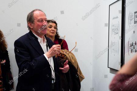 Writer Ignacio Gomez de Liano during the presentation of the exhibition 'Abandon the writing' (Abandonar la escritura) at the Museo Museo Reina Sofía in Madrid. February 3, 2020 Spain