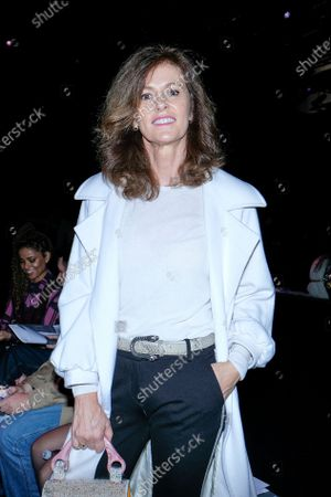 Nuria March during in fashion show during Mercedes Benz Fashion Week Madrid Autumn/Winter 2020-21 on February 1, 2020 in Madrid, Spain