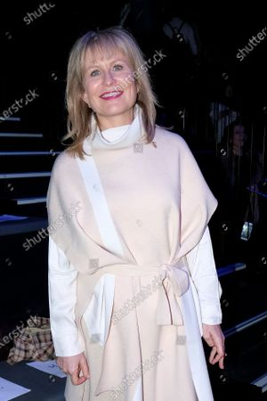 Stock Image of Maria Rey during in fashion show during Mercedes Benz Fashion Week Madrid Autumn/Winter 2020-21 on February 1, 2020 in Madrid, Spain