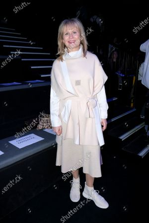 Stock Picture of Maria Rey during in fashion show during Mercedes Benz Fashion Week Madrid Autumn/Winter 2020-21 on February 1, 2020 in Madrid, Spain