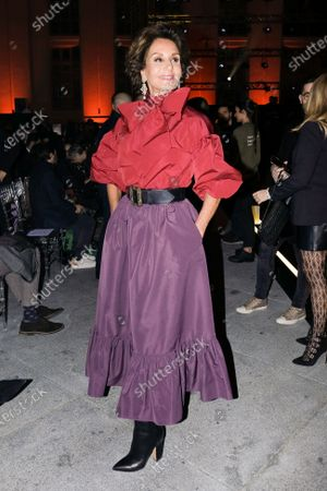 Naty Abascal during in fashion show during Mercedes Benz Fashion Week Madrid Autumn/Winter 2020-21 on January 31, 2020 in Madrid, Spain