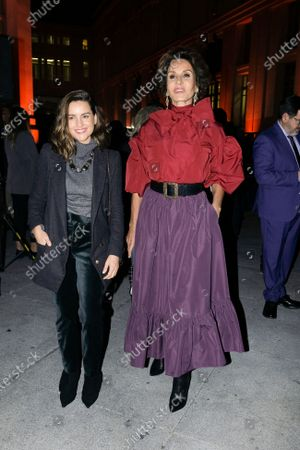 Stock Image of Naty Abascal during in fashion show during Mercedes Benz Fashion Week Madrid Autumn/Winter 2020-21 on January 31, 2020 in Madrid, Spain