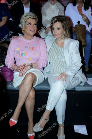 Maria Teresa Campos, Terelu Campos during in fashion show during Mercedes Benz Fashion Week Madrid Autumn/Winter 2020-21 on January 29, 2020 in Madrid, Spain
